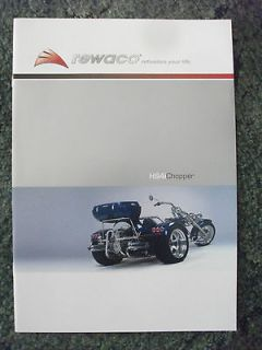 2006 rewaco hs4i chopper trike motorcycle brochure from united kingdom