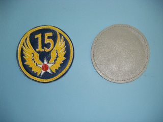 b1063 ww 2 us army 15th air force patch leather