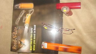 Reading Glasses Metal Frame With Hard Case LED Light Power +3.0 or