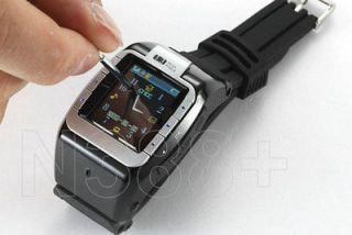 4GB BLACK TOUCH SCREEN UNLOCKED WATCH CELL PHONE 1 SIM CAMERA  QUAD