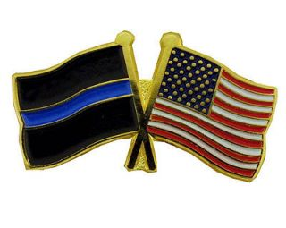 thin blue line usa flags pin  8