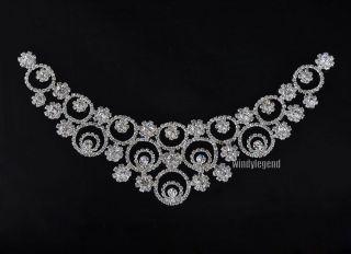Clear Crystal Rhinestone Sewing Lovely Wedding Bridal Costume Collar