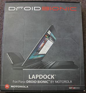 newly listed verizon droid bionic lapdock by motorola time left