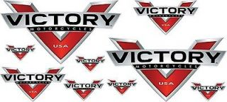 Victory Motorcycles NEW PACK Decal Color vinyl sticker graphic