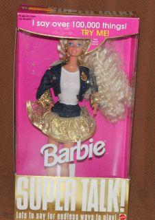 mattel toys super talk blond barbie doll 12290 time left
