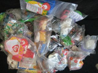 of 46 NIB Toys Including McDonalds, Burger King, Hot Wheels, Barbie