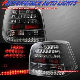1999 2004 VOLKSWAGEN GOLF IV L.E.D. TAIL LIGHTS LED BLACK PAIR PLUG