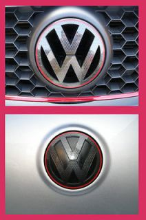 VW GOLF MK5 GT GTI NEW STYLE CARBON FIBER GRILL REAR BADGE EMBLEM LOGO