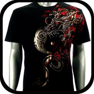 Artful Couture T Shirt Tattoo Dragon Rock AB54 Sz M L XL XXL Graffiti