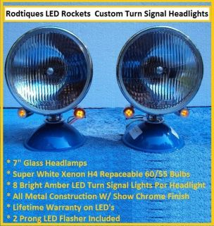 Headlights W/ LED Turn Signals Dune Buggy VW Bug Sandrail Kit Car