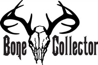 BONE COLLECTOR DEER SKULL STICKER DECAL . HUNTING TURKEY BIRD