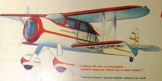 Vintage WACO CABIN UC Sterling 33 & Also 35 Wing Span Model Airplane