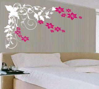 wall art vinyl decal stunning sticker vine flower more options