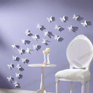 3D Effect Butterfly Wall Stickers Mural Decor Home Room 12pcs / 24pcs