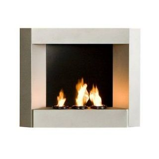 Contemporary Wall Mount Gel Fuel Fireplace Portable Indoor Outdoor