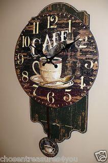 pendulum clock, Cafe Coffee Restaurant Kitchen Coffee House wall decor