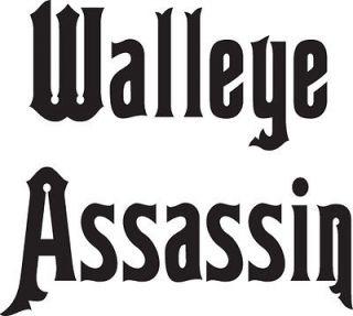 walleye assassin vinyl fishing sticker decal 7 x7 time left