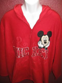 DISNEY MICKEY MOUSE WOMENS HOODIE SIZE 2X (18W/20W) LARGE NEW WITH