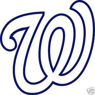 WASHINGTON NATIONALS Logo W * Window Wall STICKER * Vinyl Car DECAL
