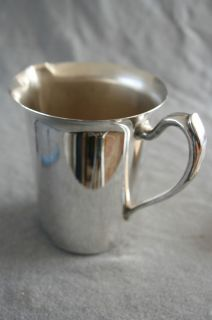 Plate Plated Copper PITCHER JUG Milk Water FINA Shabby Vase 2 QT Chic