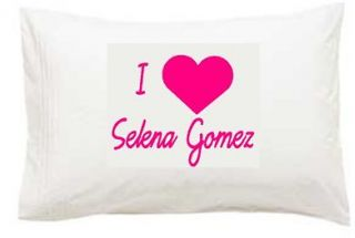 love heart selena gomez printed pillowcase more options colour