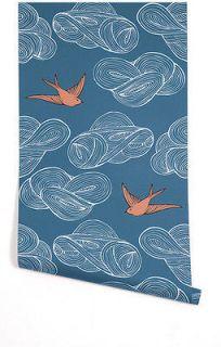 Julia Rothman for Hygge & West Daydream Blue Bird Wallpaper (2 rolls)