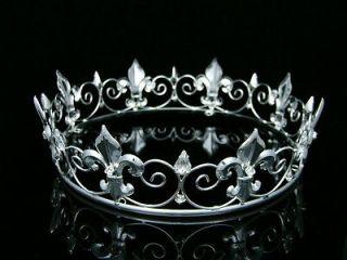 full king s crown wedding party crystal tiara 9373 one