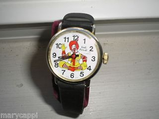 1979 ORIGINAL MCDONALDS RONALD MCDONALD WRIST WATCH 17J WIND UP