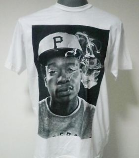 wiz khalifa hip hop rapper t shirt white size medium
