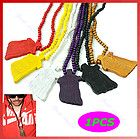 Hot Hiphop Wooden Bead JESUS Piece Rosary Necklace CHRIST Pendant