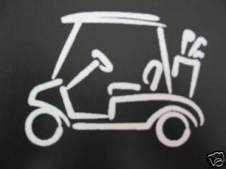 golf cart car window decal sticker wedge ball hole time