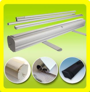 33x79 Retractable Roll Up Pull Pop Up Trade Show Display Banner