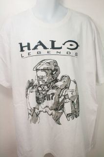 men white and black tee shirt halo legends xbox 360