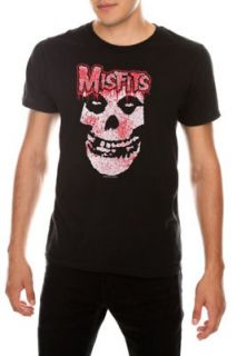 NEW Mens MISFITS Logo Bloody Crimson Ghost Skull Black Red T Shirt
