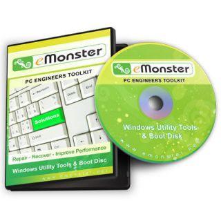 PC & Laptop Repair + Recovery CD For Windows XP / Vista / 7