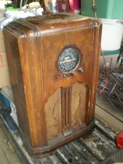 1937 ZENITH CONSOLE RADIO 5 s 151 Vintage estate find Berlin N.H.