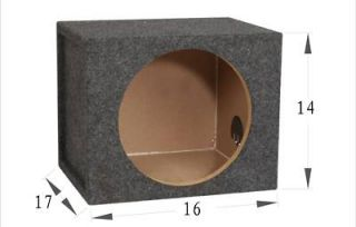 1SL101.4BK: New MDF 10 Single Slot Sealed SubWoofer Car Enclosure