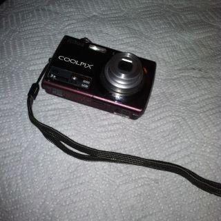 Purple Coolpix Digital Camera 10 Megapixels 3X Zoom for Parts