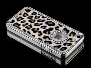 Luxury Bling Rhinestone Leopard Hard Case Cover Screen Film Pen