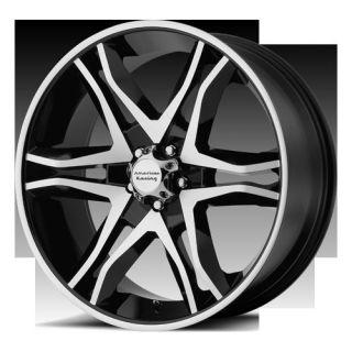 20 Wheels Rims American Racing Mainline Gloss Black Mustang Edge