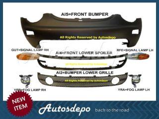 01 05 Volkswagen Beetle Front Bumper Low Grille Spoiler Fog Light Trim