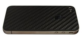 Back Carbon Fiber Skin Sticker 3D Protector for iPhone 4S and iPhone 4