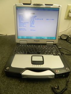 Panasonic Toughbook CF 30 Intel Core Duo 1 66 GHz 1 GB RAM Laptop 2753
