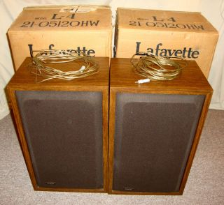 LAFAYETTE CRITERION L 4 VINTAGE SPEAKERS 3 SPEAKER 3 WAY SYSTEM IN