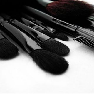Makeup Brushes 32 Pro Eyebrow Brush Eyeshadow Cosmetic Natural Leather