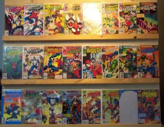 Amazing Spider Man Comics 48 Book Lot 243 400 Listed David Michelinie