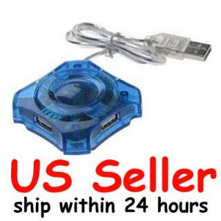 Port High Speed USB 2 0 Hub Adapter for Laptop Blue
