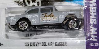 HOT WHEELS SHOWROOM   55 CHEVY BEL AIR GASSER