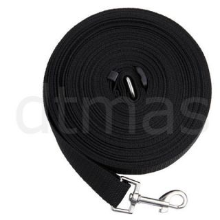 Black 50ft 15M Long Dog Pet Puppy Training Obedience Lead Leash