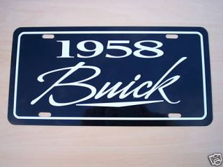 1958 Buick License Plate Tag 58 Century Special